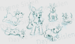 Scottie Dog Cartoon by Dayne Sislen