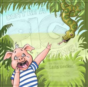 """Cover """"Don't be a PIG in a Panic"""""""