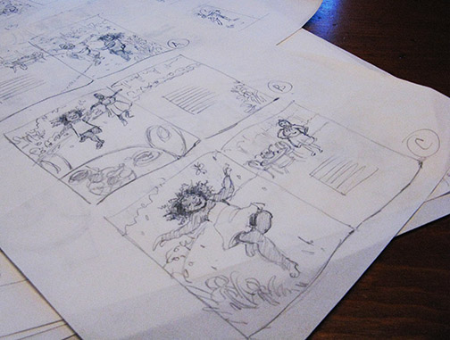 Sketches for a picture book