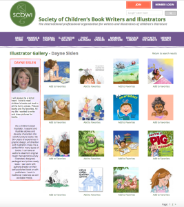 SCBWi Dayne Sislen Gallery Page