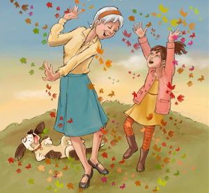 Gigi and Grandma Remember, written by Maggie Konopa, illustrated by Dayne Sislen