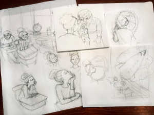 Sketches for cover