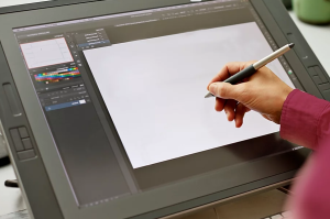 Drawing on Wacom Tablet
