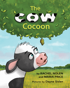 Picture book cover, The Cow Cocoon