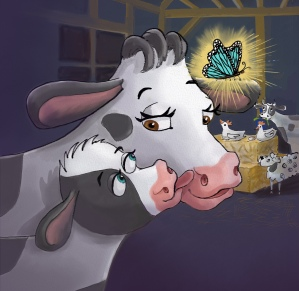 The Cow Cocoon picture book. Truman and Mooma are safe.